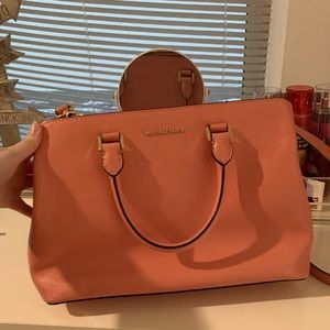 Peach Michael kors bag